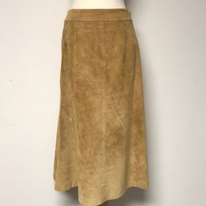 Vintage Camel colored Suede Skirt